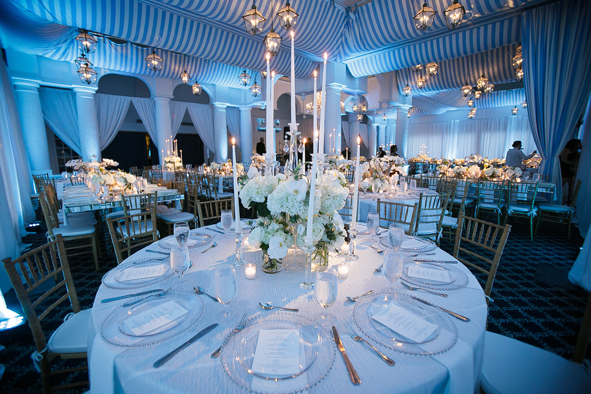 Table Settings and Room at a High End Event