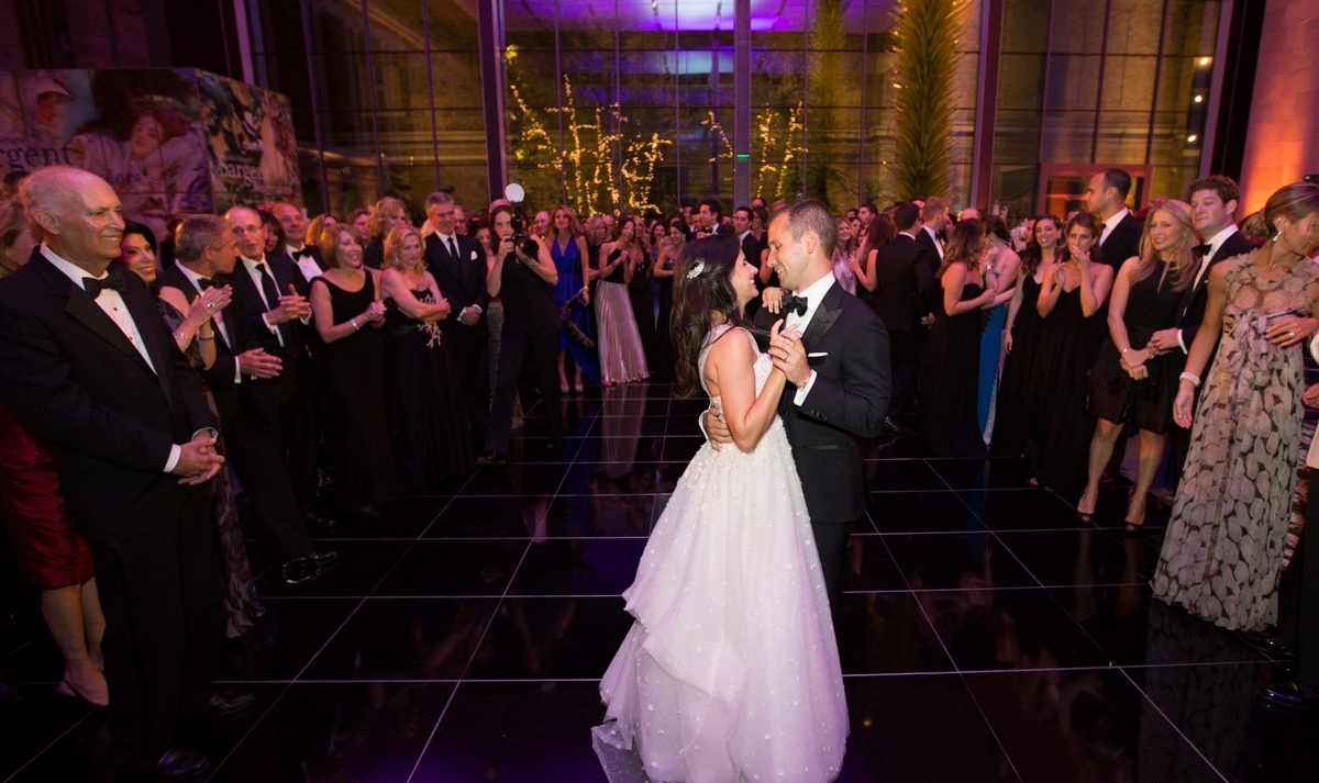 Couple Dancing To Live Music At Their Wedding