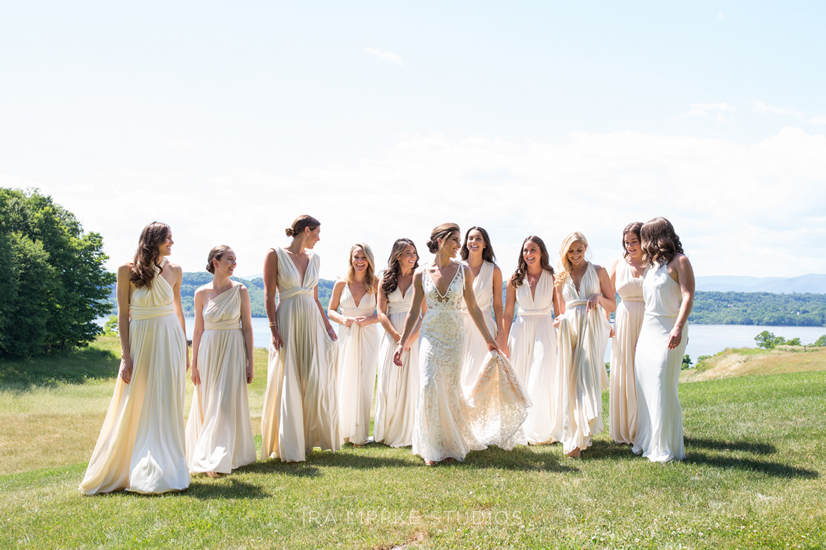 Bridal Party Outside at a Destination Wedding